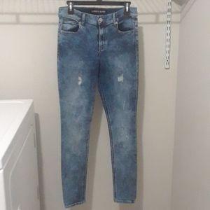 Express High Rise Jean Leggings Acid Wash